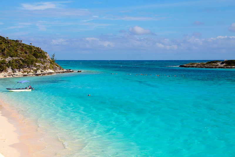 Swimmers in the Exuma's
