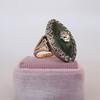 3.34ctw Georgian-era Cushion Cut Diamond and Enamel Ring 18