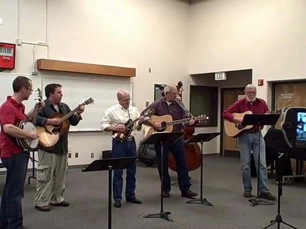 Shoreline Bluegrass Ensemble, December 2008.  Cripple Creek.
