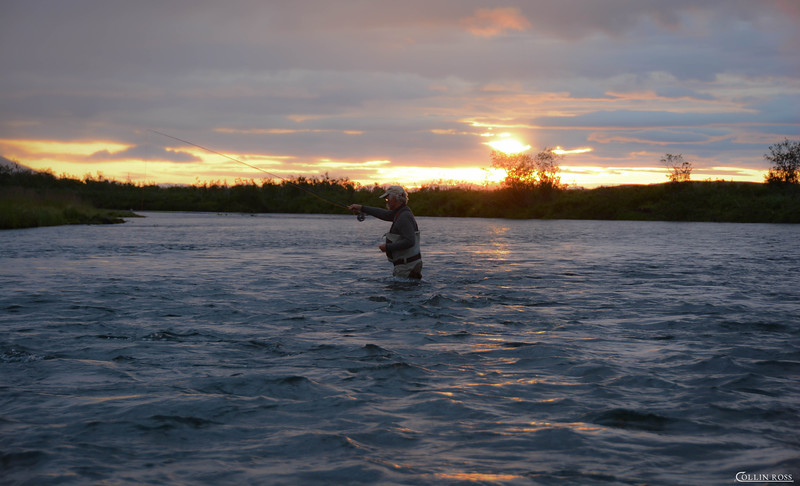 it was impossible to get Willi off the river fishing, even at 10PM..........