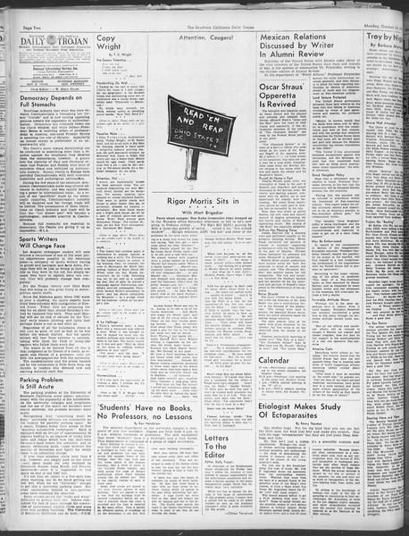 Daily Trojan, Vol. 30, No. 16, October 10, 1938