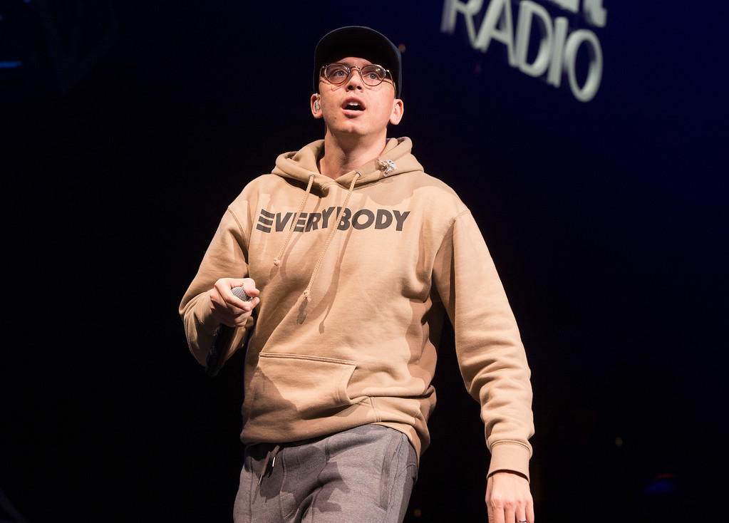 . Logic performs in concert during Q102\'s iHeartRadio Jingle Ball 2017 at the Wells Fargo Center on Wednesday, Dec. 6, 2017, in Philadelphia. (Photo by Owen Sweeney/Invision/AP)