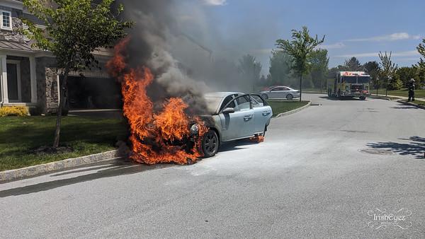 800blk - S Haines Cir - Car Fire
