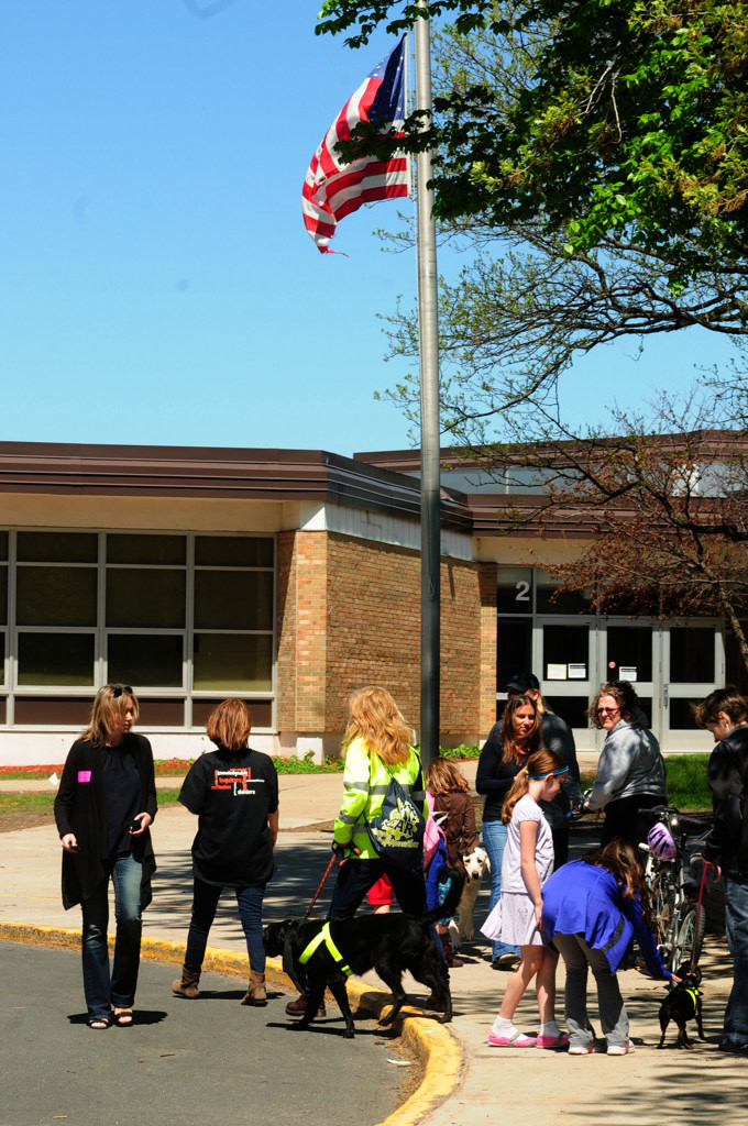 . The flag flew at  half-mast Thursday at Peter Hobart Elementary School in St. Louis Park, where students Zack Mohamed Fofana, 10, and Haysem Sani, 9, were in fourth grade. (Pioneer Press: Scott Takushi)