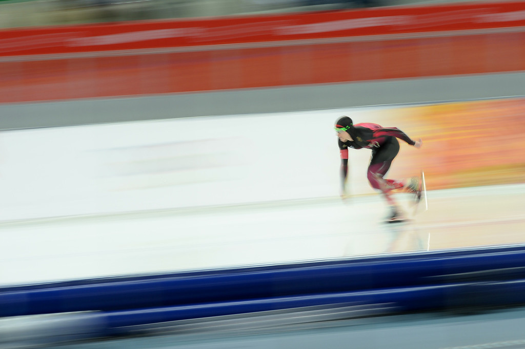 . Germany\'s Robert Lehmann competes in the Men\'s Speed Skating 1500 m at the Adler Arena during the Sochi Winter Olympics on February 15, 2014.           DAMIEN MEYER/AFP/Getty Images