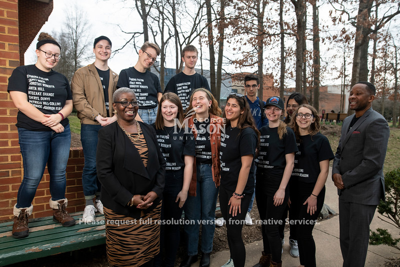 Marilyn Mobley with students