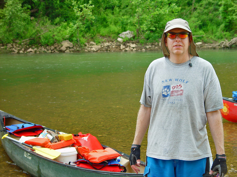 Steve Velderman was also decked out in nice gear. I didn't get to see him too much on the trip, as they were mostly in the front of the canoe pack while I was in the back.