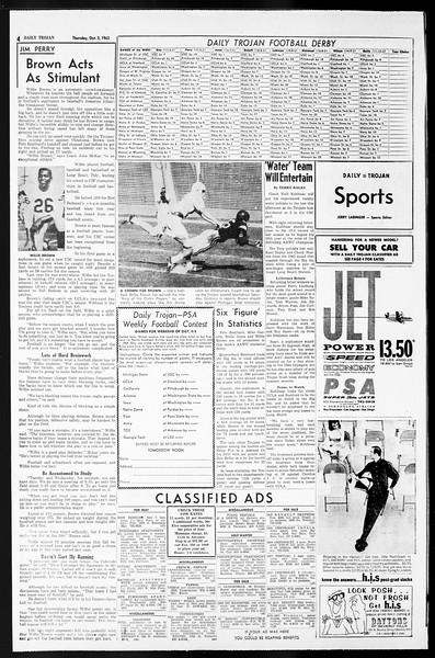 Daily Trojan, Vol. 55, No. 9, October 03, 1963