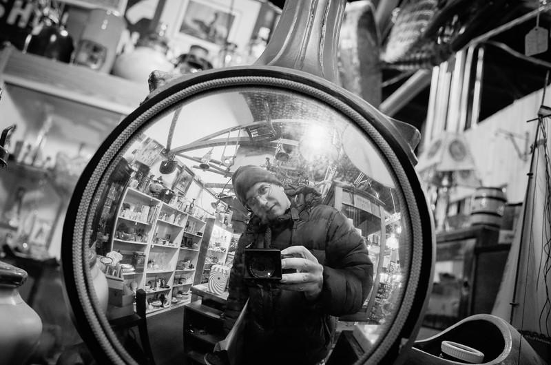 Me #junkshop #mirror #selfportrait #ricohgr #grll #monotone
