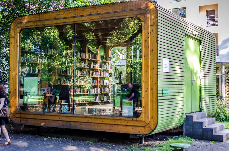 Library in a park