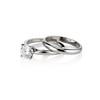 0.78ct Round Brilliant Diamond Bridal Set by Cartier 5