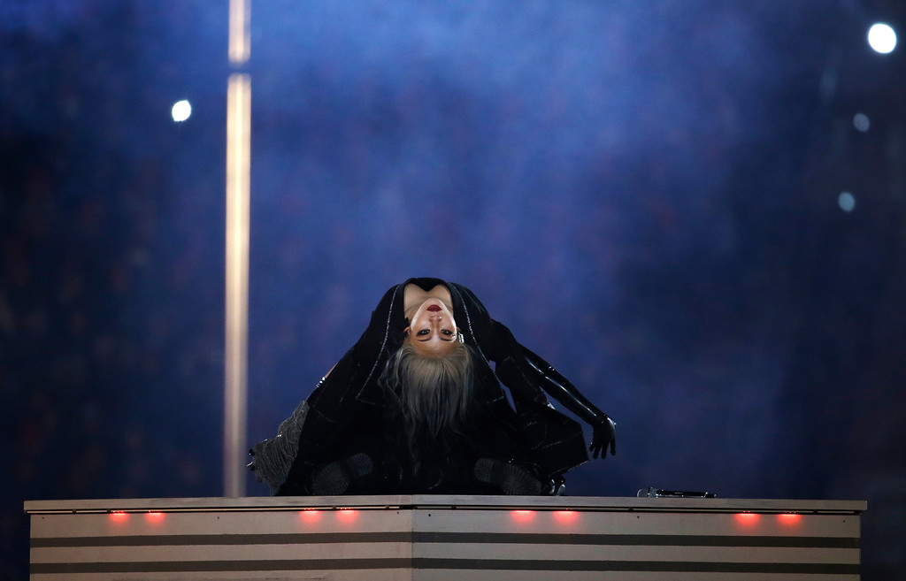 . Singer CL performs during the closing ceremony of the 2018 Winter Olympics in Pyeongchang, South Korea, Sunday, Feb. 25, 2018. (AP Photo/Natacha Pisarenko)