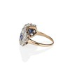 2.90ctw Old European Cut and Sapphire Princess Style Ring 2