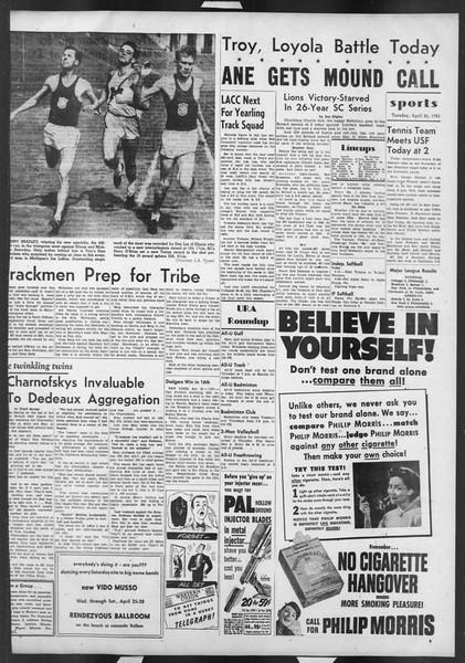 Daily Trojan, Vol. 42, No. 115, April 24, 1951