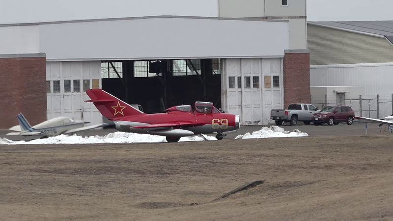 3-27-18...Mikoyan-Gurevich MiG-15 taxiing, taking off and low approach