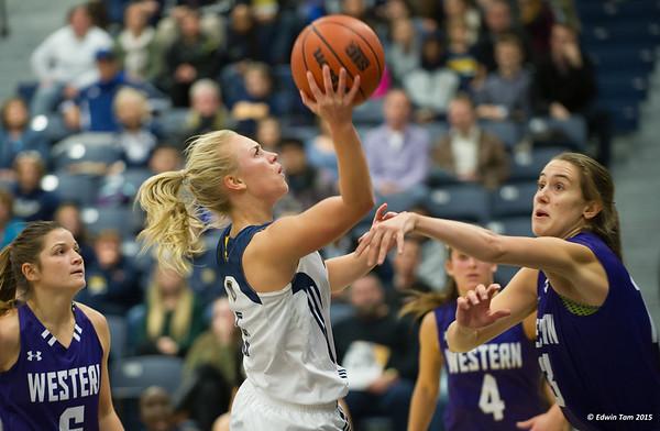 Uwindsor Lancers vs Western Mustangs in Womens Basketball November 13, 2015