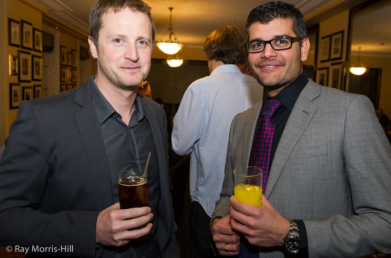 Jeremy Hodgson and Abhishek Pradhan, who both played in the Pro-Biz Cup