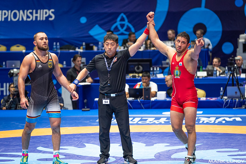 Quarterfinal: Myles Nazem Amine (SAN MARINO) over Ahmed Ruslanovic Dudarov (Germany)  •  Dec 4-2 - 2019 World Championships