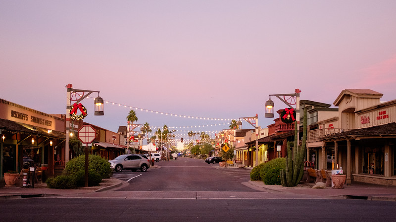 Old Town Scottsdale at dawn
