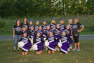 Weaver Cheerleading Teams & Individuals 09-13-16