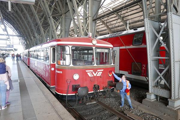 Hamburg inc Historicher Tag, EVB MoorExpress, Molli Bahn and R BB Rugen.