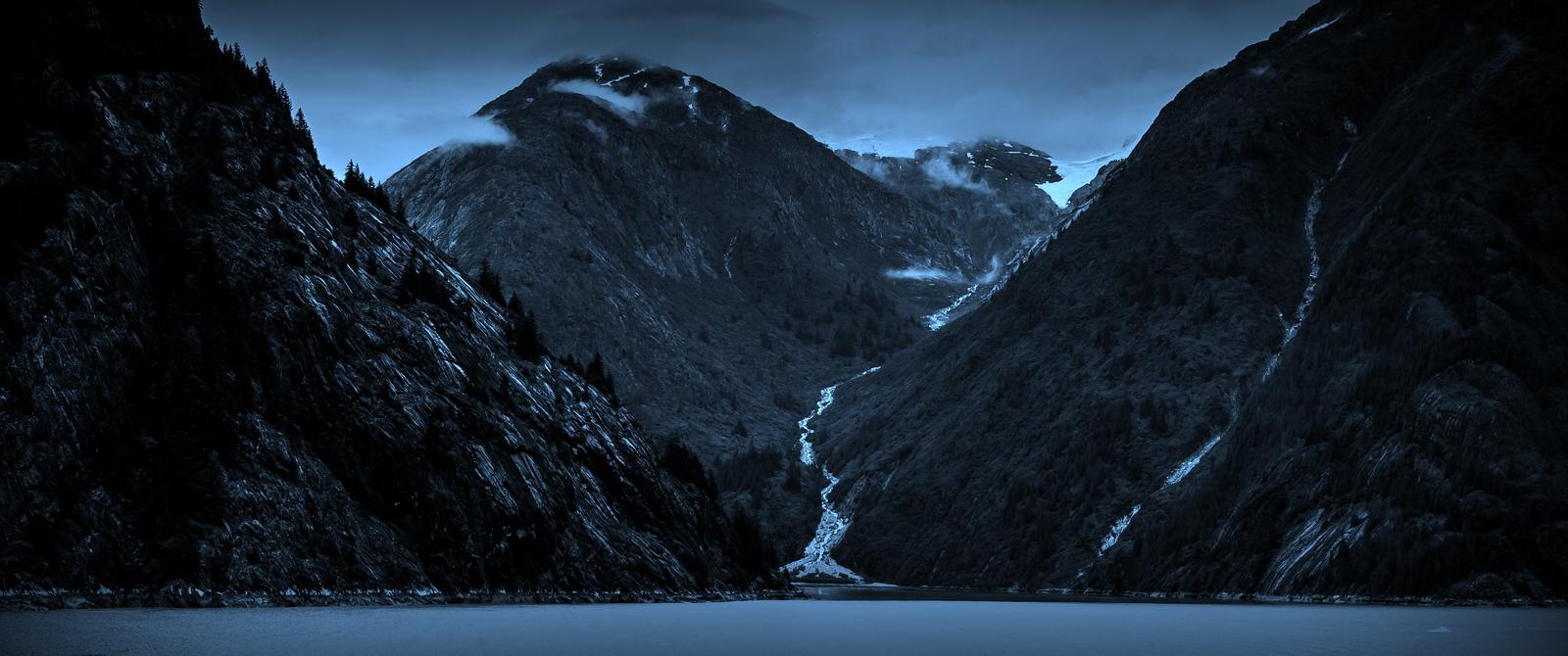 阿拉斯加,山峰冰川的英姿