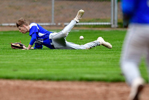 5/1/2019 Mike Orazzi | Staff Bristol Eastern's Jacobi Bouchard (19) at Muzzy Field Wednesday evening.