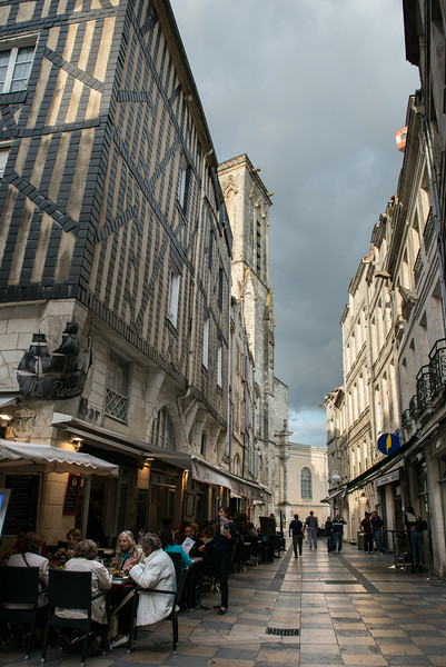 Alley way in Old Town La Rochelle