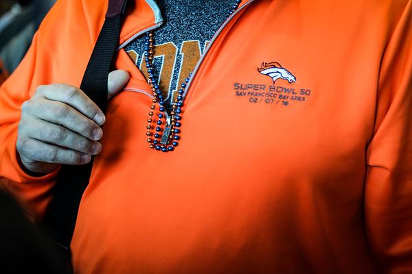 2-5-16 Denver Bronco Fans leave for Super Bowl 50