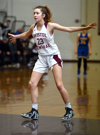 12/31/2019 MIke Orazzi | StaffrBristol Central's Ella Watson (23) during Tuesday's girls basketball game at Bristol Central in Bristol.