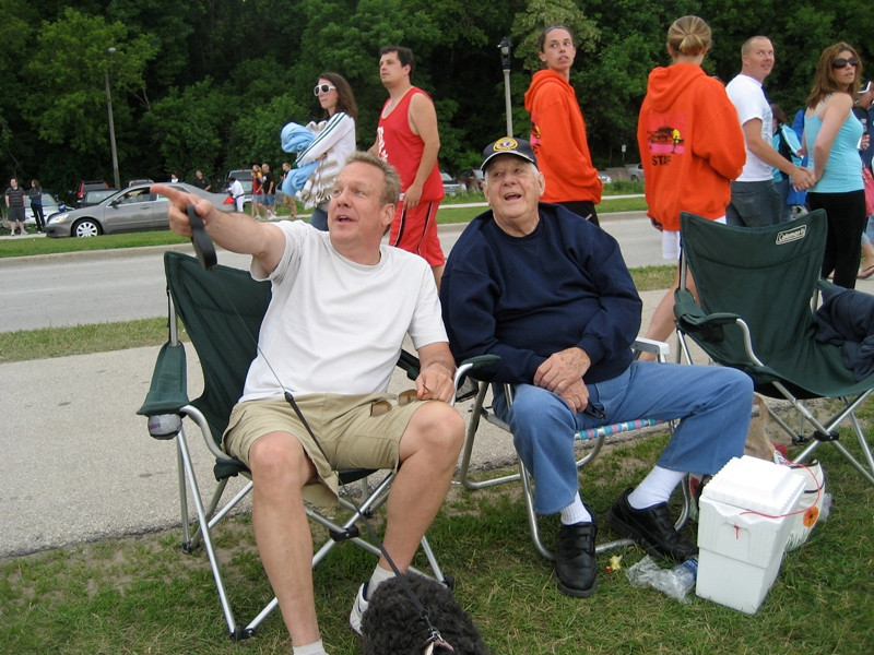 Circa:2010, watching the Blue Angels along the Milwaukee waterfront