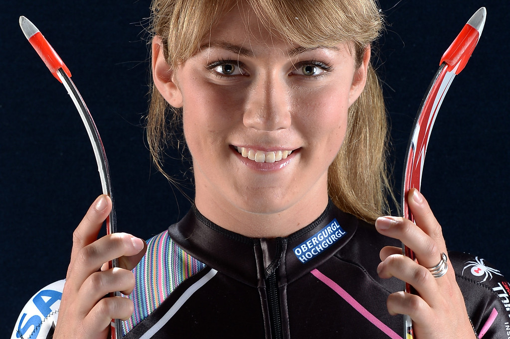 . Alpine skier Mikaela Shiffrin poses for a portrait during the USOC Portrait Shoot on April 27, 2013 in West Hollywood, California.  (Photo by Harry How/Getty Images)