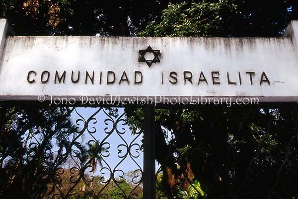 """EL SALVADOR, San Salvador. Cementerio Comunidad Israelita, """"Masferrer"""" Old Cemetery. (2008)"""