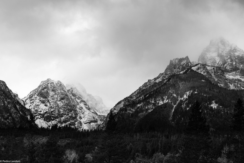 Teton Ridge with Early Snow Fall