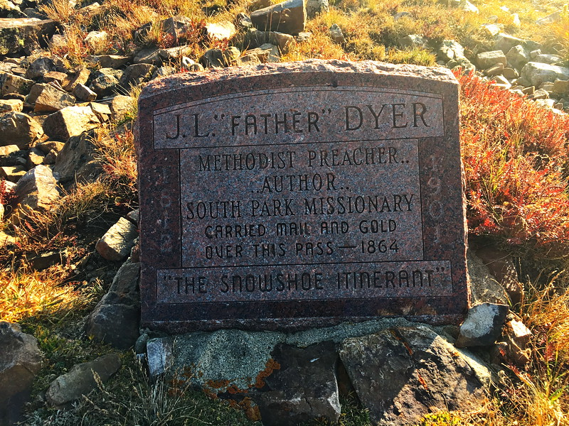 Father Dyer Headstone, Mosquito Pass