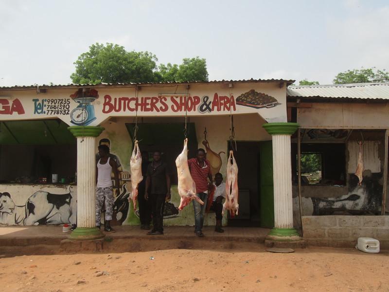 035_Banjul. Livestock. Butcher's Shop and Afra.JPG