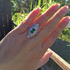 3.50ctw Art Deco Emerald and Old European Cut Diamond Dinner Ring 17