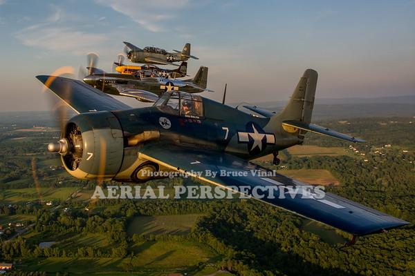 Geneseo Formation Flight 7/10/15 N717WB N551TC N119H N151AM N3967A