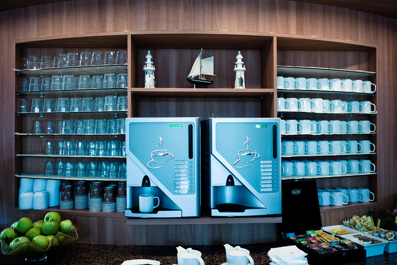 Amazong coffee machines on the ship
