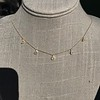 1.01ctw Trillion Rose Cut Diamond Scatter Necklace 23