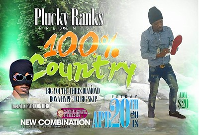 "PLUCKY RANKS ""100% COUNTRY MAN LINK UP 2018""(15)"