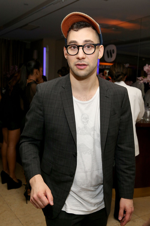 . Musician Jack Antonoff attends the Warner Music Group annual GRAMMY celebration on January 26, 2014 in Los Angeles, California.  (Photo by Imeh Akpanudosen/Getty Images for Warner Bros.)