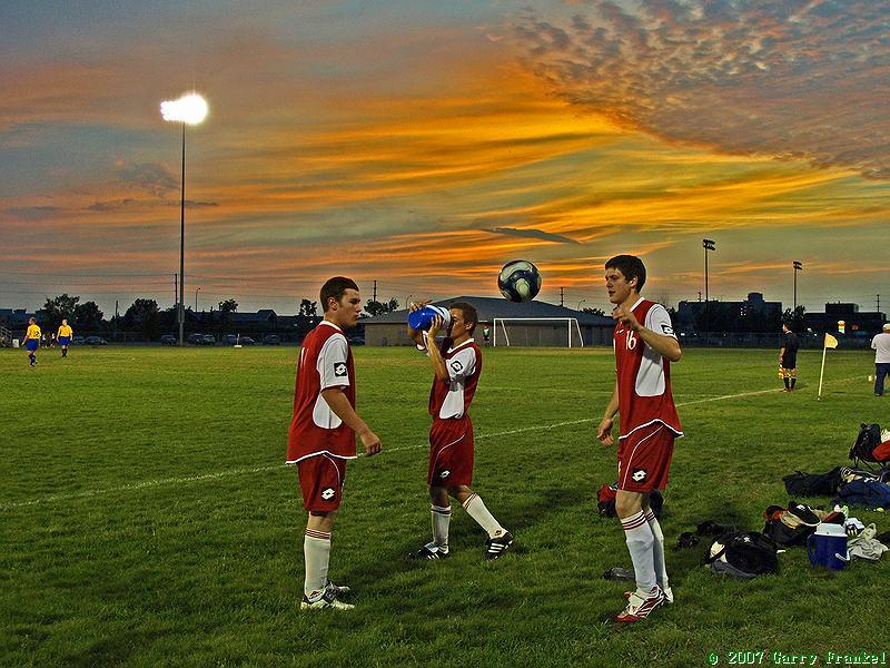 Garry Frankel soccer and a prairie sunset