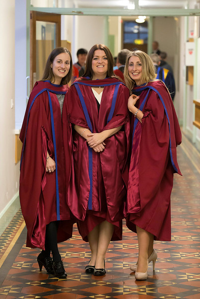 Pictured are Anne Marie Ivers, Kildare, Niamh Owens, Waterford, Elaine Alyward, Kilkenny, who were conferred a Doctor of Philosophy . Picture: Patrick Browne
