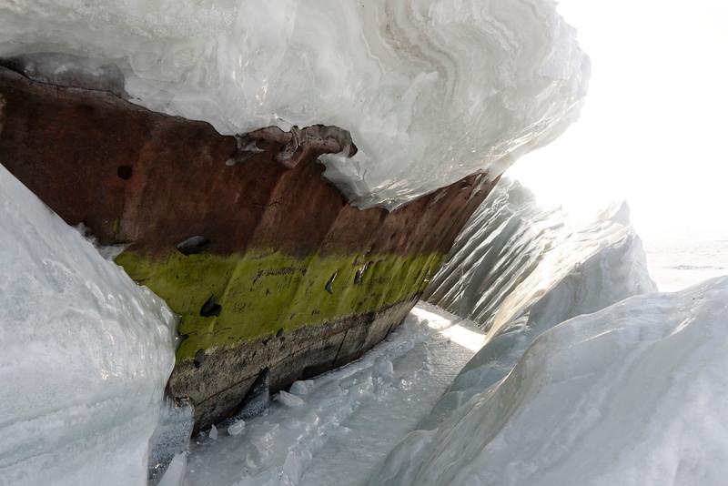 Lost harbour at Kuzhir, Olchon Island, Siberia, Lake Baikal