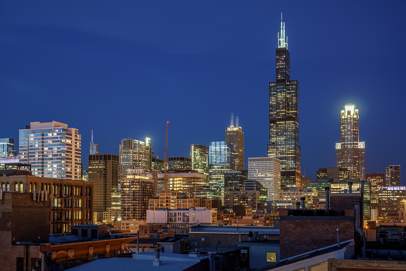 Near West Side Neighborhood Skyline View