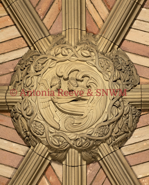 SNWM:Porch ceiling, central boss detail