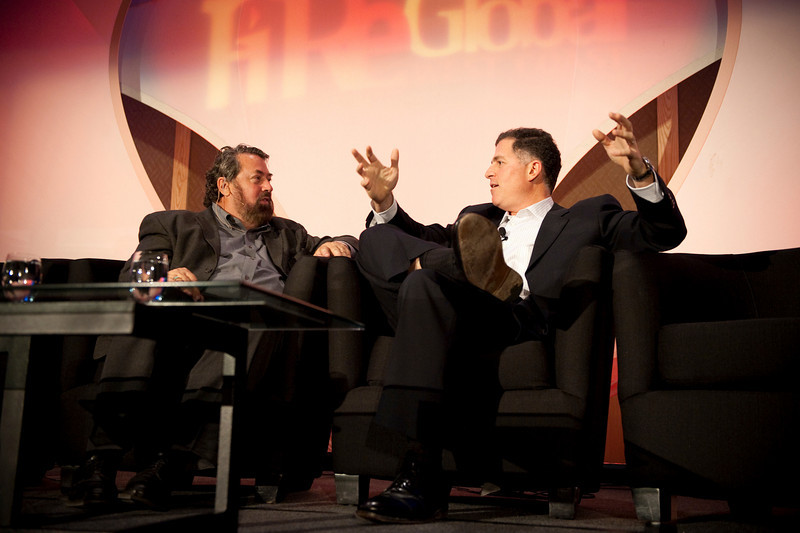 Centerpiece Conversation: Host Mark Anderson (L), SNS CEO and FiRe Chair; and Michael Dell, Chair and CEO, Dell Inc.