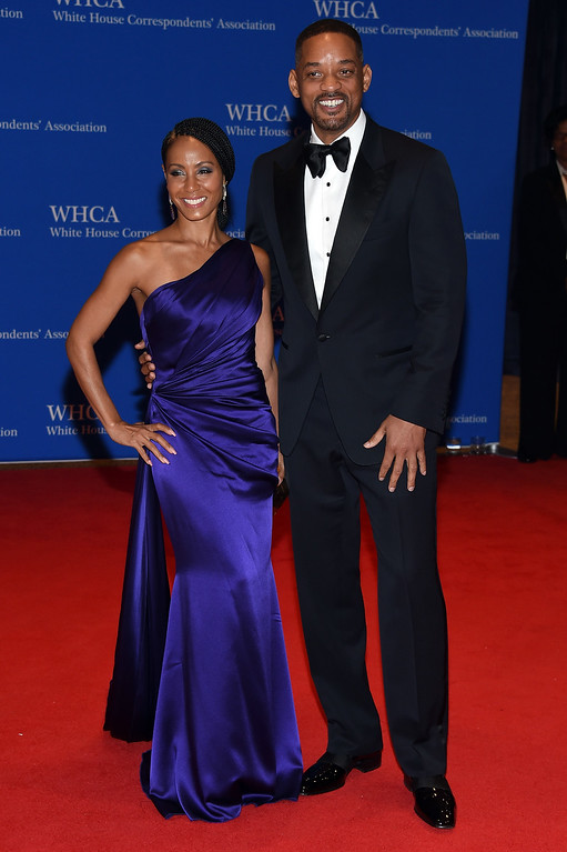 . Actors Jada Pinkett Smith and Will Smith attend the 102nd White House Correspondents\' Association Dinner on April 30, 2016 in Washington, DC.  (Photo by Larry Busacca/Getty Images)