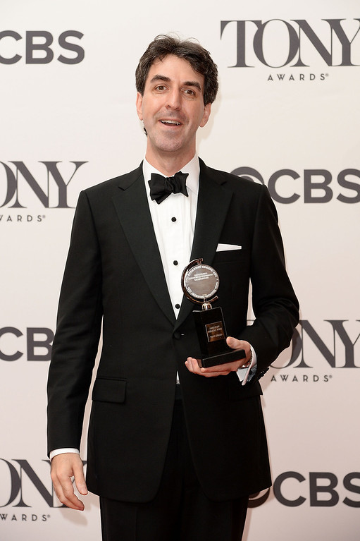 ". Composer Jason Robert Brown, winner of the Tony Award for Best Original Score (Music and/or Lyrics) Written for the Theatre for "" The Bridges of Madison County\"" poses in the press room during the 68th Annual Tony Awards on June 8, 2014 in New York City.  (Photo by Andrew H. Walker/Getty Images for Tony Awards Productions)"